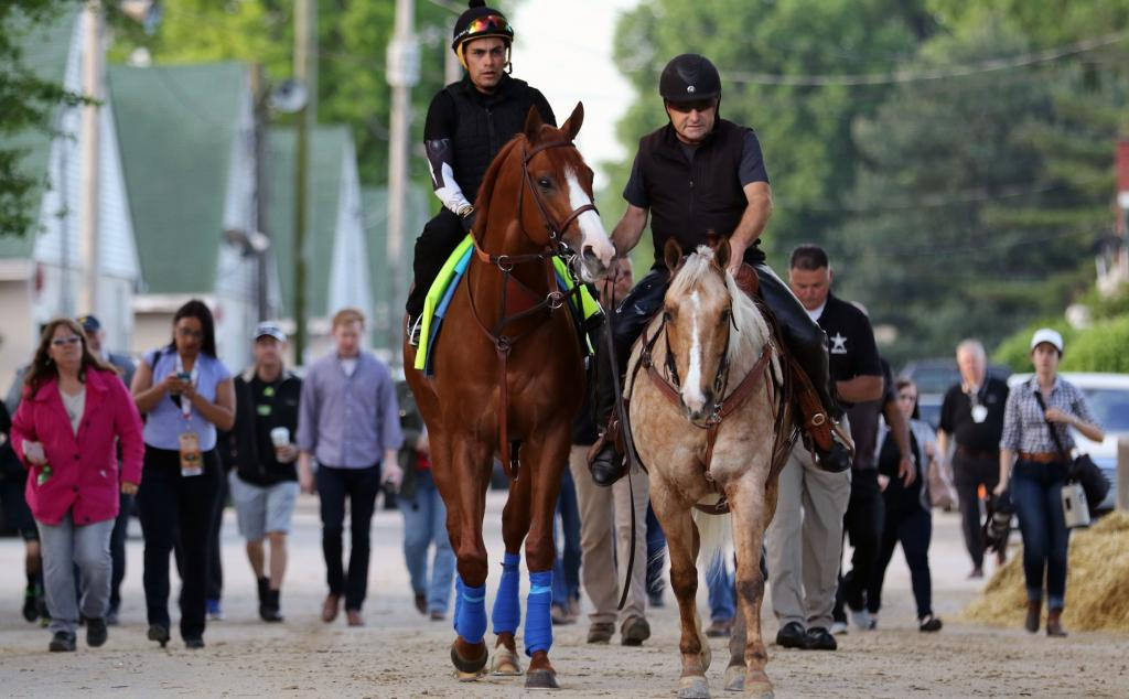 Justify with stable pony Sunny. (Eclipse Sportswire)