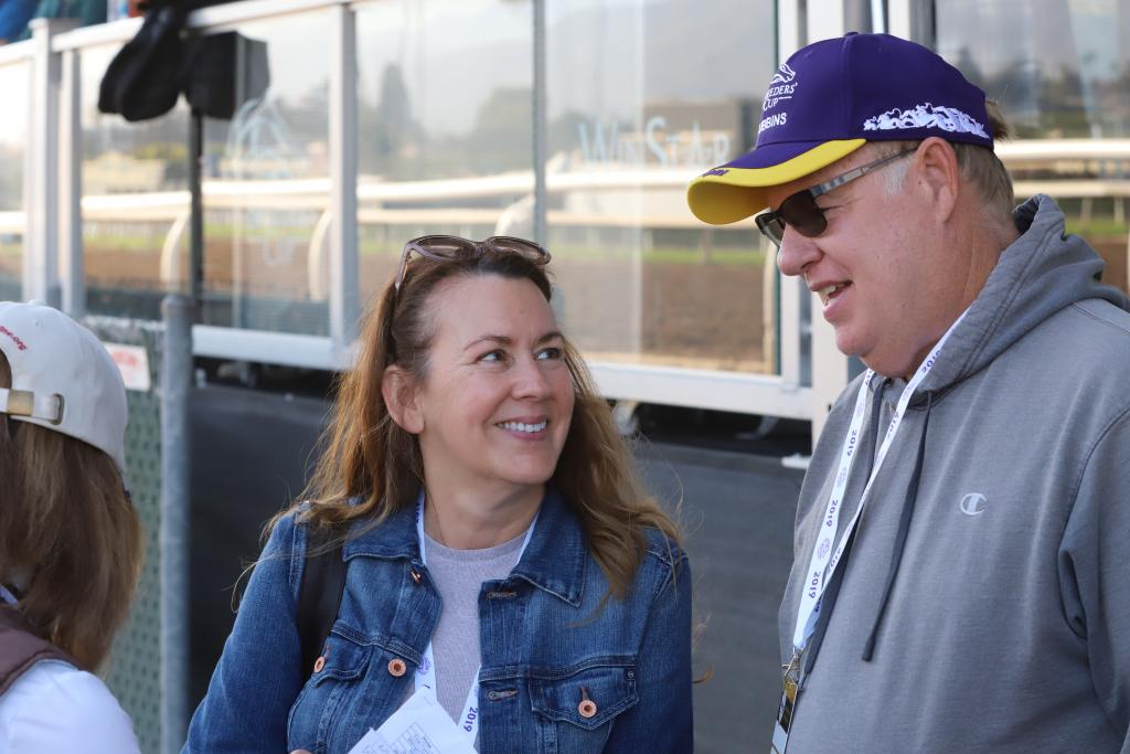 Kelly and Jack talk about their Breeders' Cup experience. (Julie June Stewart photo)