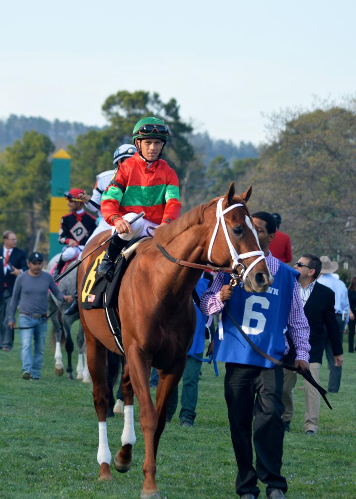 Malagacy and Javier Castellano before the race. (Sara Dacus photo)