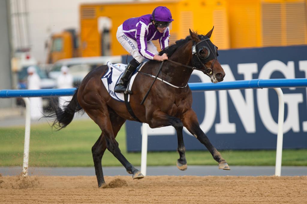 Mendelssohn winning the United Arab Emirates Derby in March. (Eclipse Sportswire)