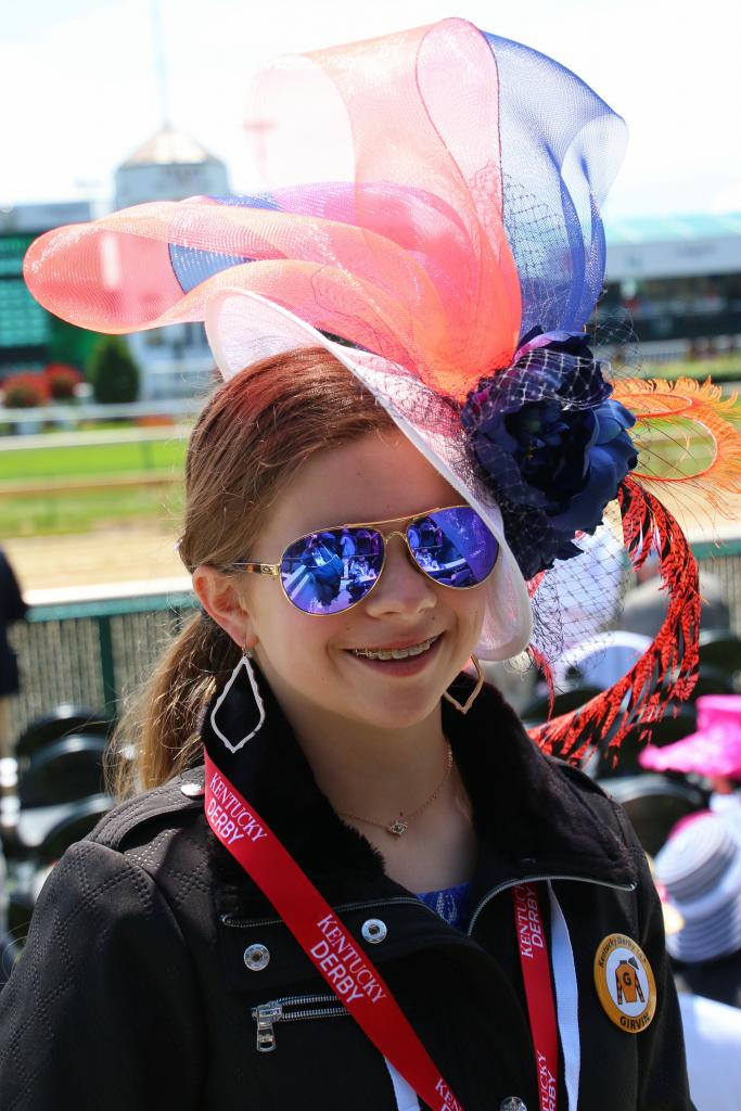 Mikala in her fascinator. (Julie June Stewart photo)