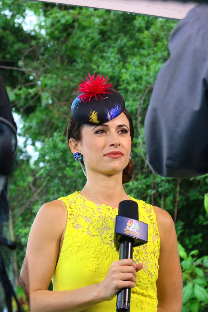 NBC Sports' Britney Eurton is stunning in her Preakness outfit. (Julie June Stewart photo)