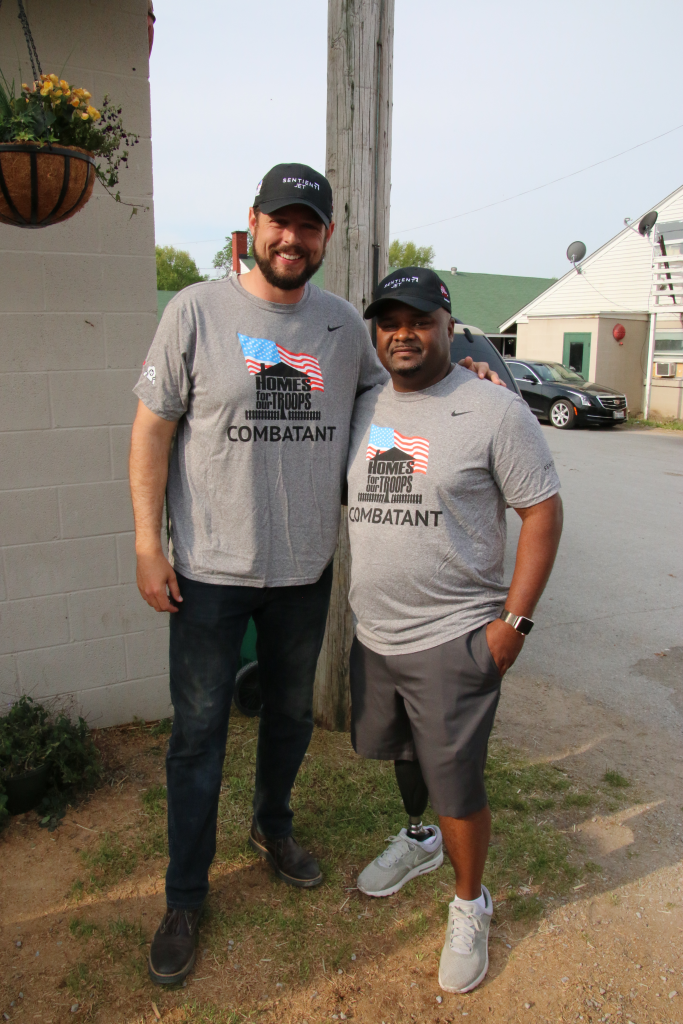 Retired National Football League tight end Jacob Tamme with Chris Gordon. (Julie June Stewart photo)