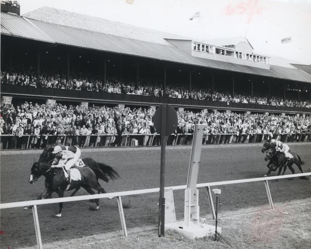 Northern Dancer wins the 1964 Blue Grass Stakes at Keeneland.  (BloodHorse photo)