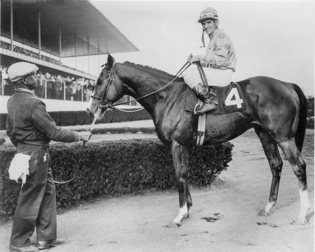 Northern Dancer in the Aqueduct winner's circle after the Remsen.  (Bob Coglianese/BloodHorse photo)