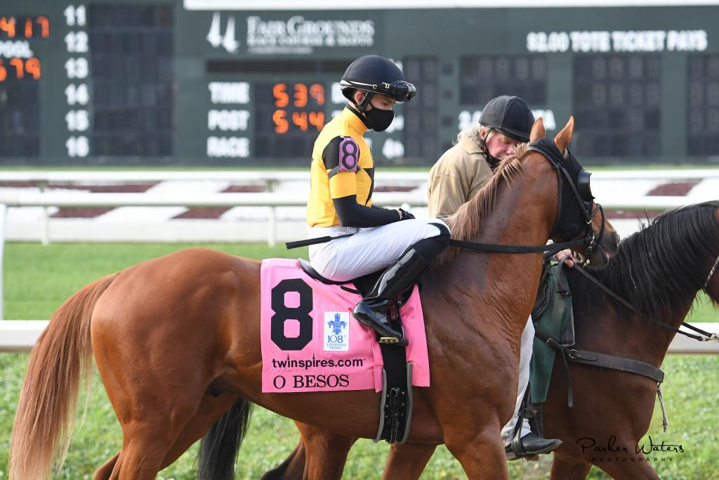 Twinspires.com Louisiana Derby third-place finisher O Besos.