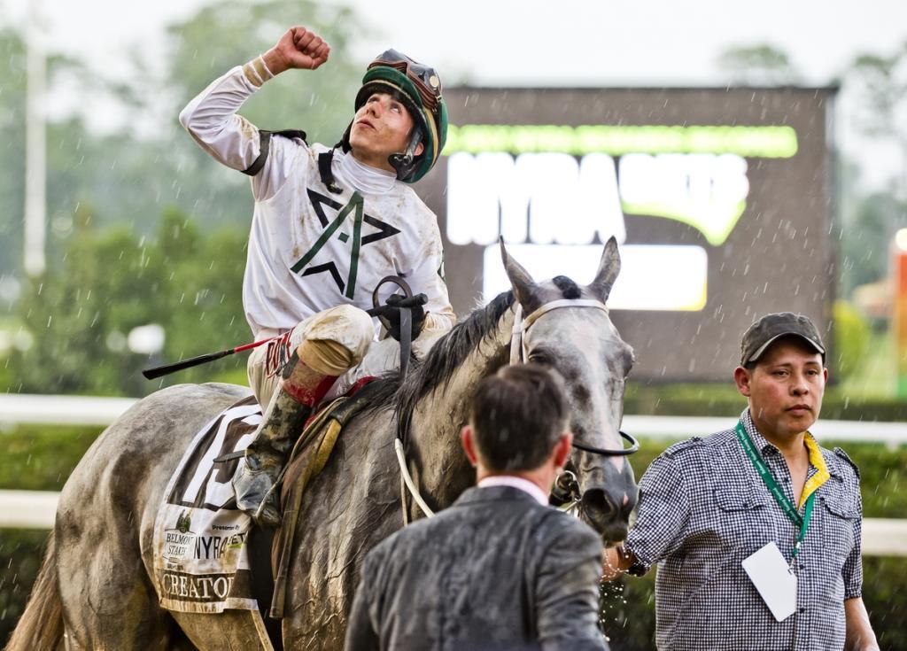 Ortiz after his Belmont win. (Eclipse Sportswire)