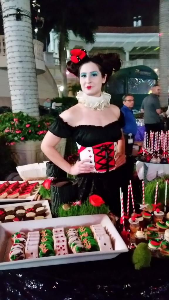 The Red Queen and desserts. (Julie June Stewart photo)
