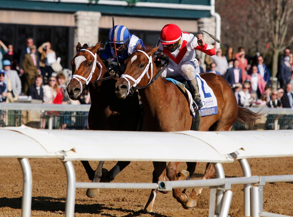 Central Bank Ashland Stakes runner-up Pass the Champagne. (Eclipse Sportswire)