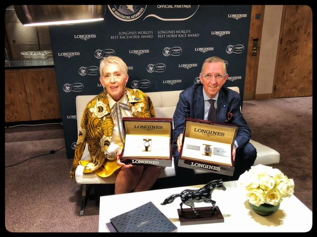 Patricia and Peter Tighe, co-owners of Winx. (America's Best Racing photo)