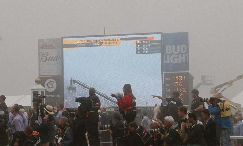 Photographers can't find the horses in the fog. (Julie June Stewart photo)