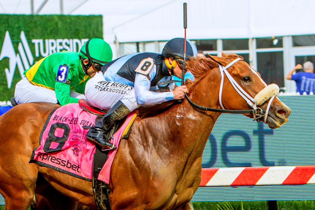 Grade 2 winner Point of Honor, runner-up in the Grade 2 Beldame Stakes Oct. 4 at Belmont Park. (Eclipse Sportswire)