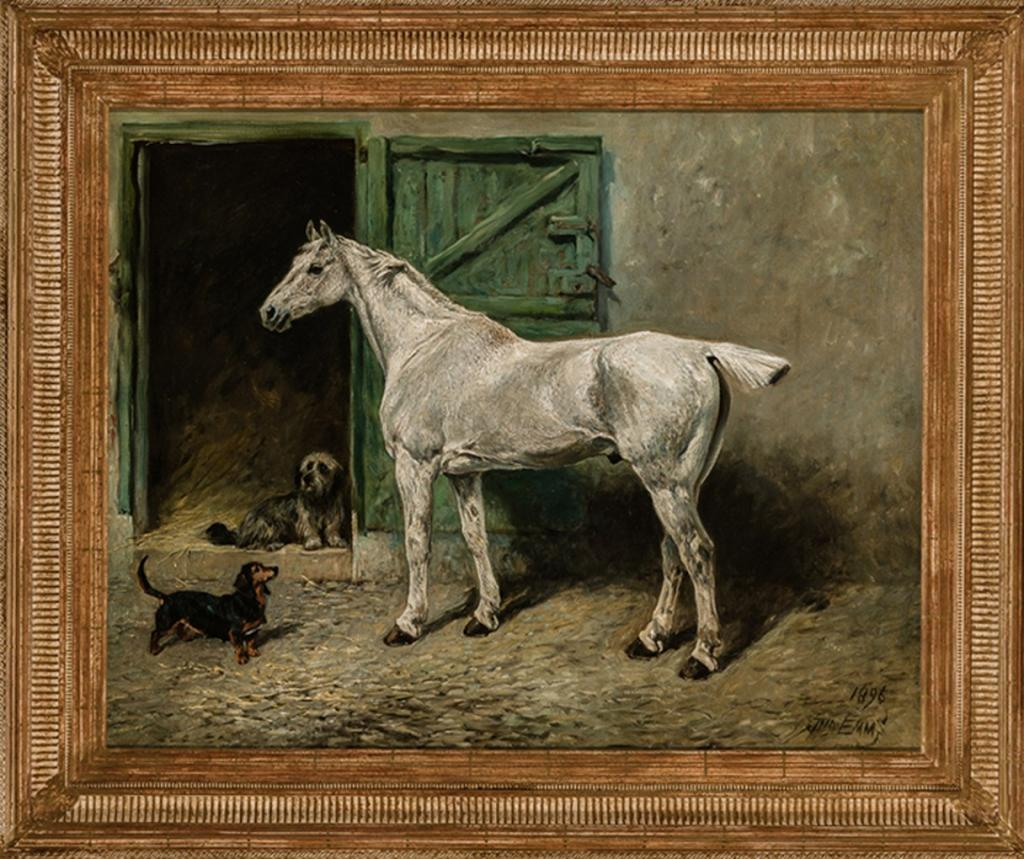 Portrait of a Grey Cob, by John Emms (Courtesy of Cross Gate Gallery)