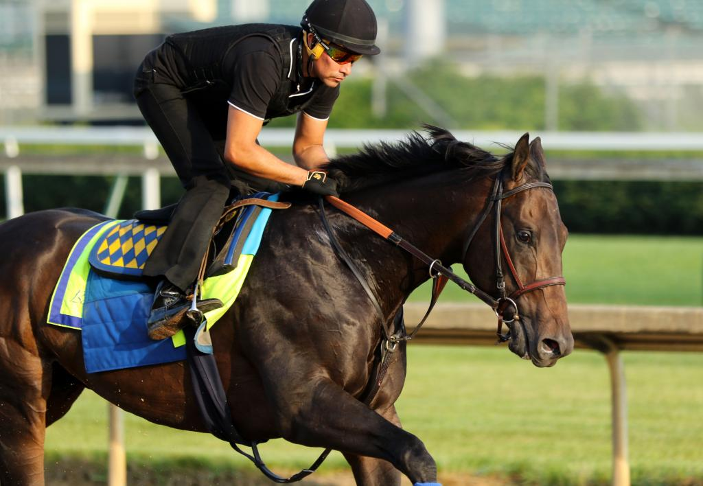 Restoring Hope exercising at Churchill Downs. (Eclipse Sportswire)