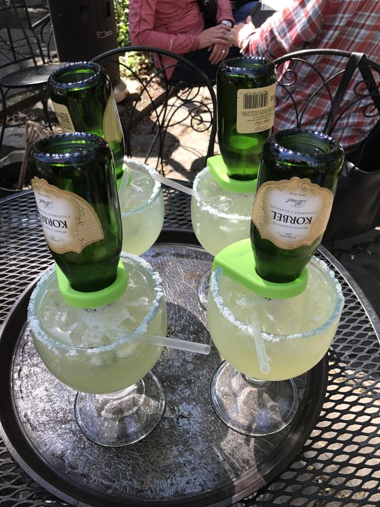 Champagne margaritas at Rolando's Nuevo Latino Restaurante. (Sara Dacus photo)