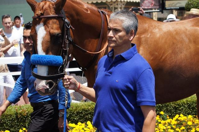 With Gomez and Lalo in the paddock. (Cynthia Holt photo)