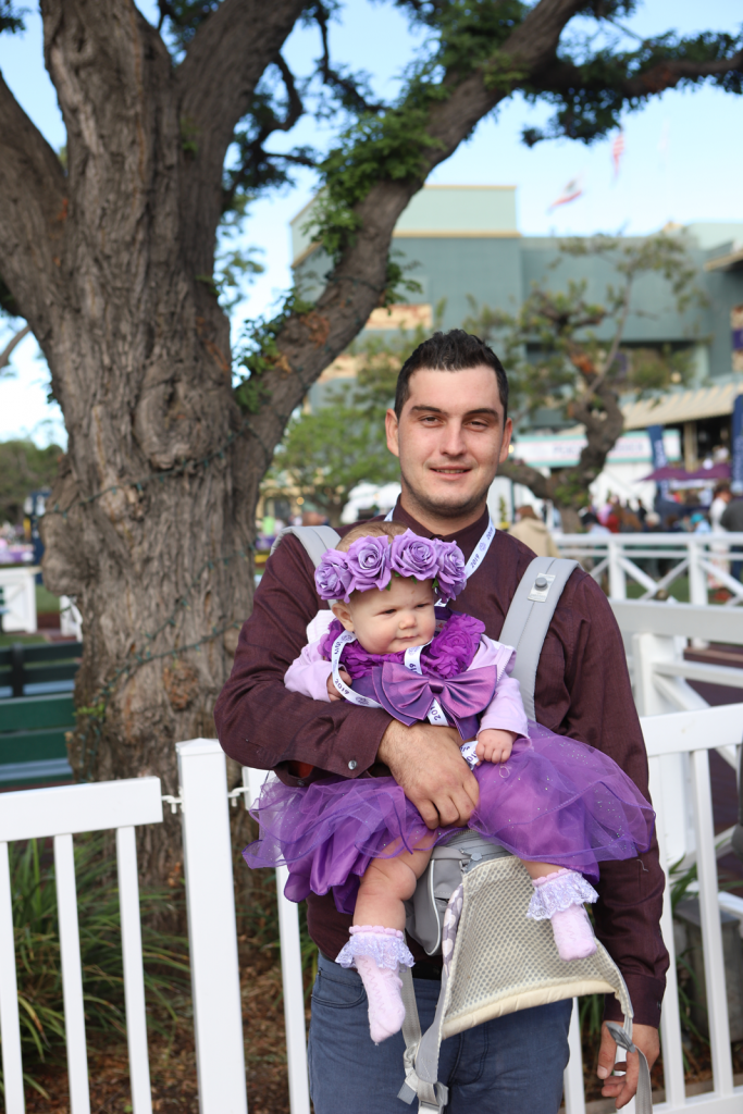 Scarlet Alpi from Florida with her proud dad. (Julie June Stewart photo)