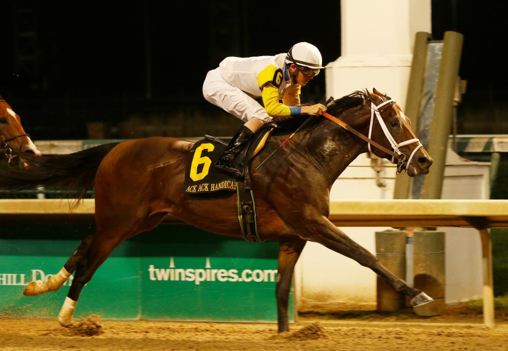 Seeking the Soul winning the Grade 3 Ack Ack Stakes in September 2018. (Eclipse Sportswire)