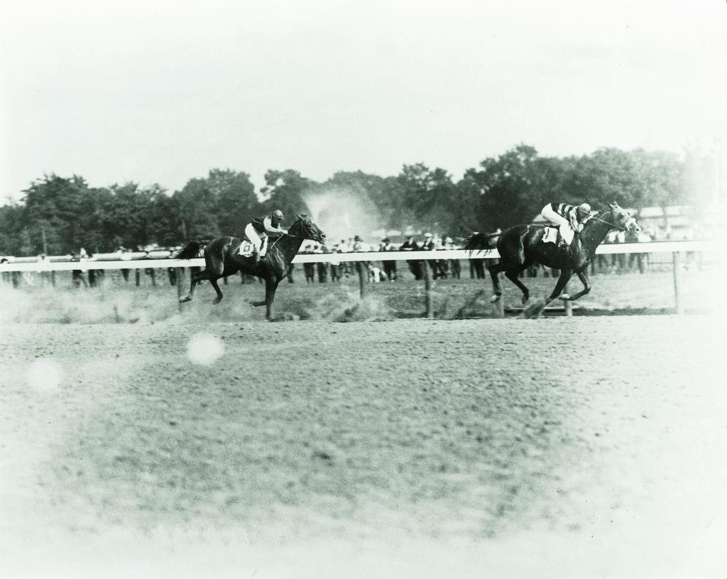 Sir Barton defeats Exterminator in the 1920 Saratoga Handicap. (Keeneland Library-Cook)