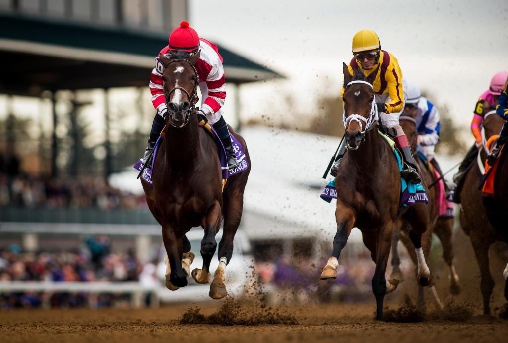 Songbird winning the 2015 14 Hands Winery Breeders' Cup Juvenile Fillies. (Eclipse Sportswire)