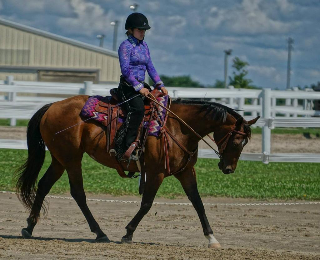Sydney Standing and Rosie. (Photo provided by The Jockey Club)