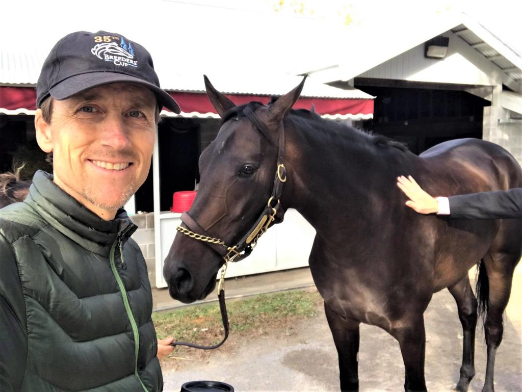 Steve and Mercy Mercy, who he named and is racing Thursday at Churchill Downs. (Photos courtesy of Steve Melen)