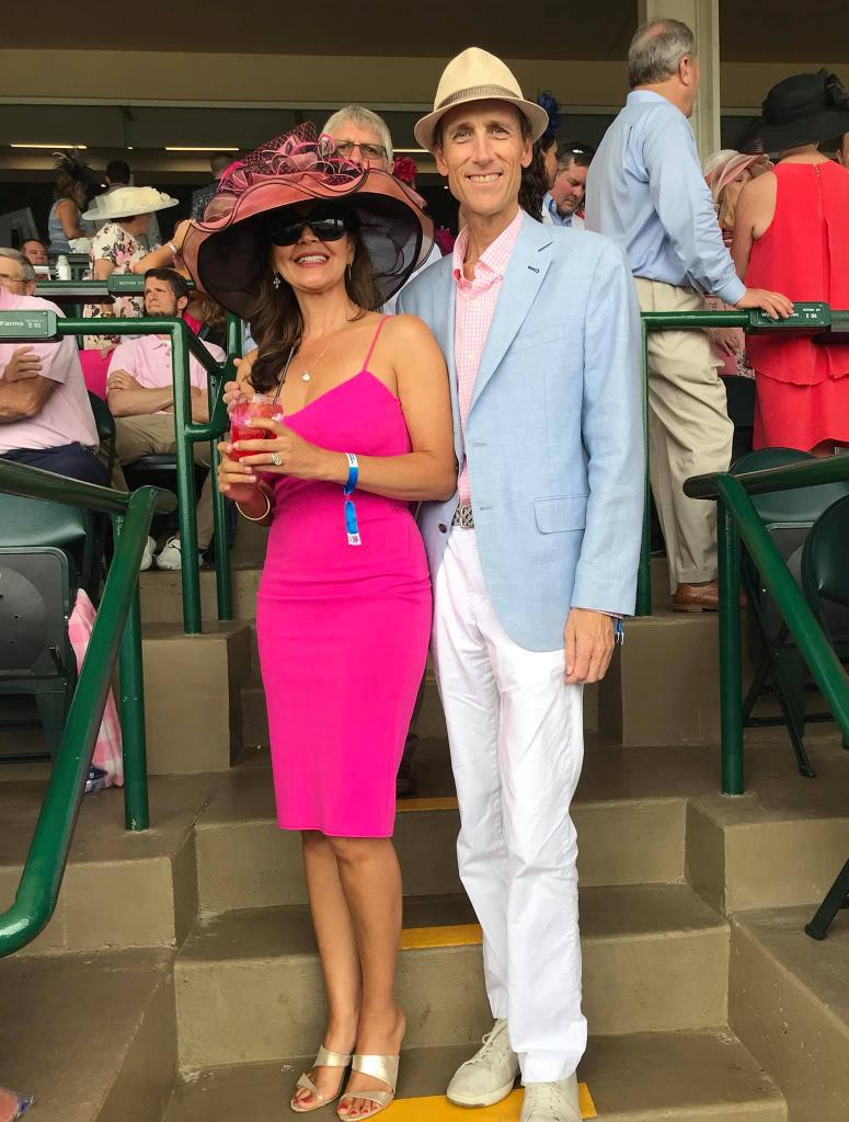 Steve and Tonya at the Kentucky Derby in 2019. (Photos courtesy of Steve Melen)
