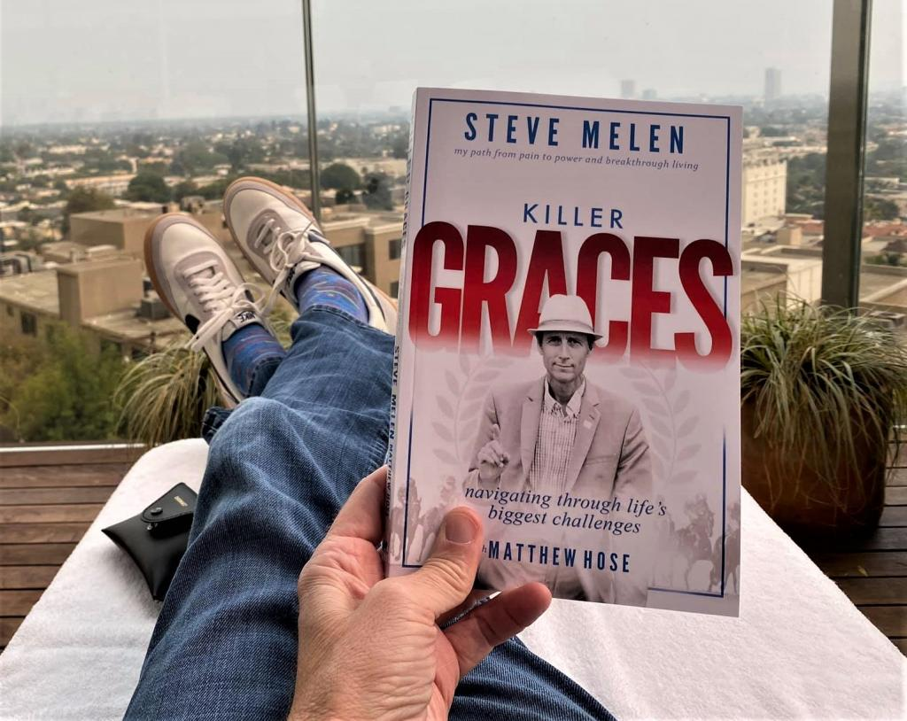 Steve's new book, Killer Graces. (Photos courtesy of Steve Melen)