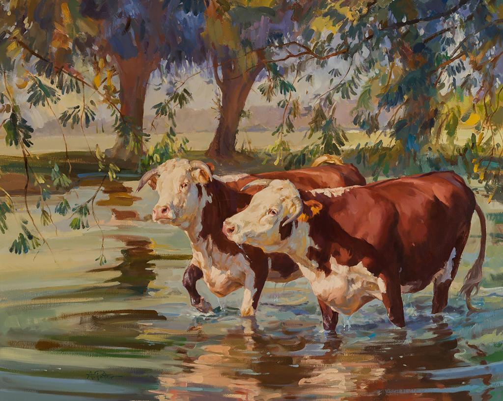 """Summer Stream"" by Andre Pater (Courtesy Cross Gate Gallery)"