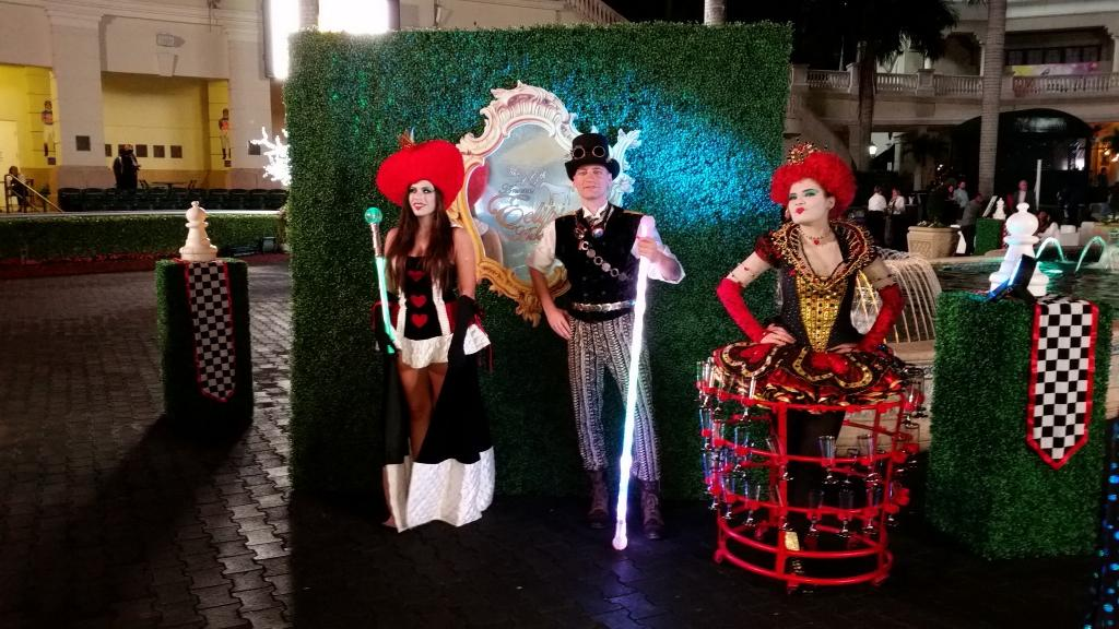 The Red Queen and friends from Alice Through the Looking Glass added to the merriment. (Julie June Stewart photo)