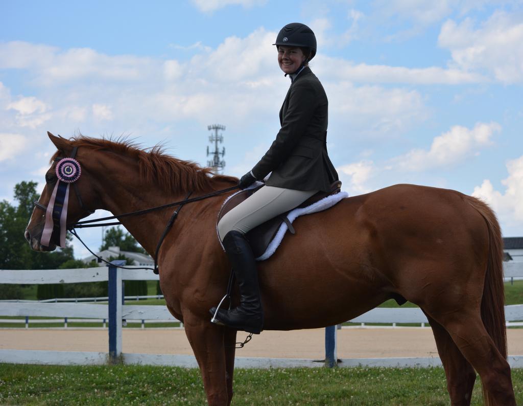 Brenna Tento and Joe. (Photo provided by The Jockey Club)