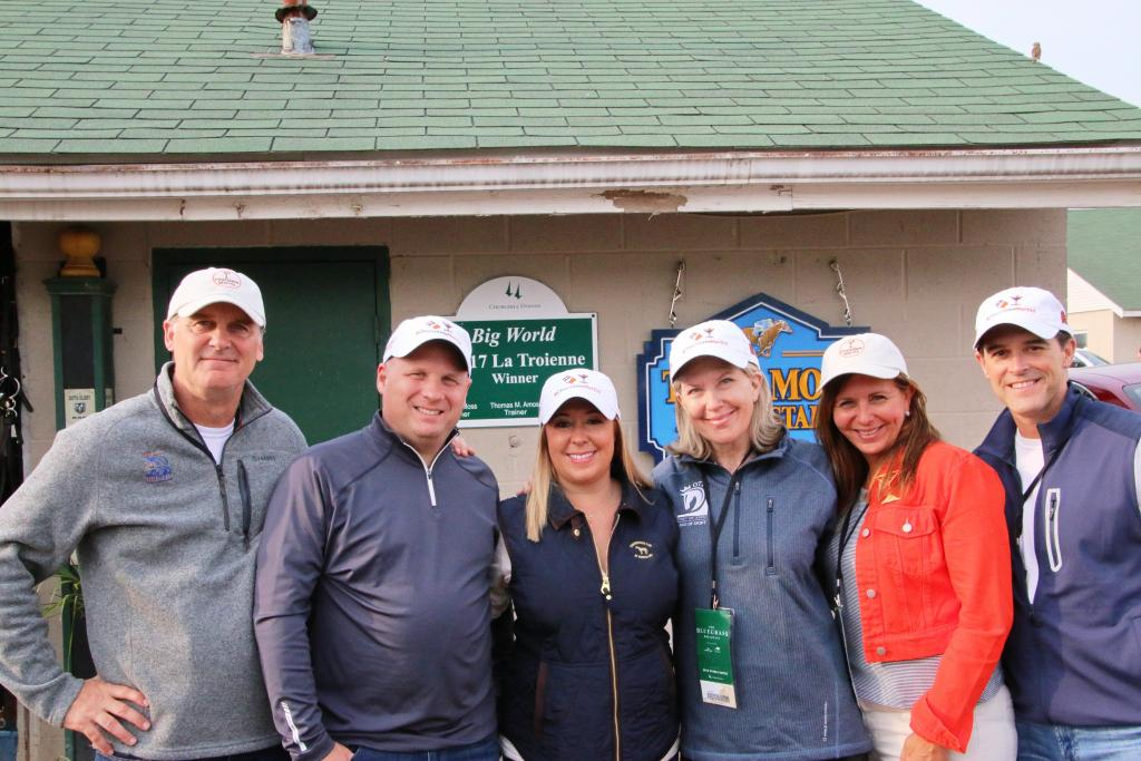 The Double Doors Racing Team: (from left) David Walker, Ron and Amanda DaBruzzo, Julie Sledge, Lori and Brian Pinto (not pictured: Randy Sledge) (Julie June Stewart photo)