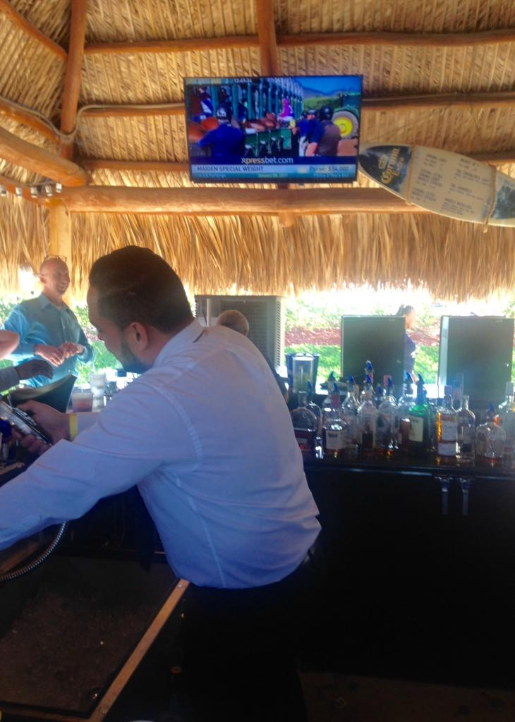 A bartender keeping everyone hydrated on Pegasus day. (Courtesy Diane Salek)