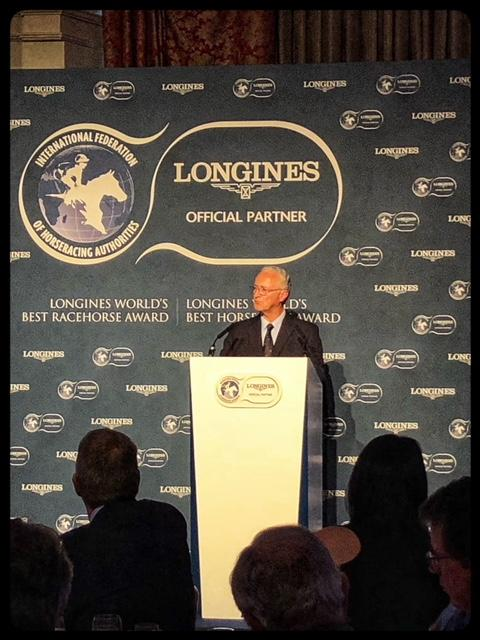 Louis Romanet, chairman of International Federation of Horseracing Authorities. (America's Best Racing photo)