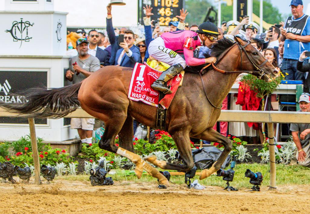 2019 Preakness Stakes winner War of Will. (Eclipse Sportswire)