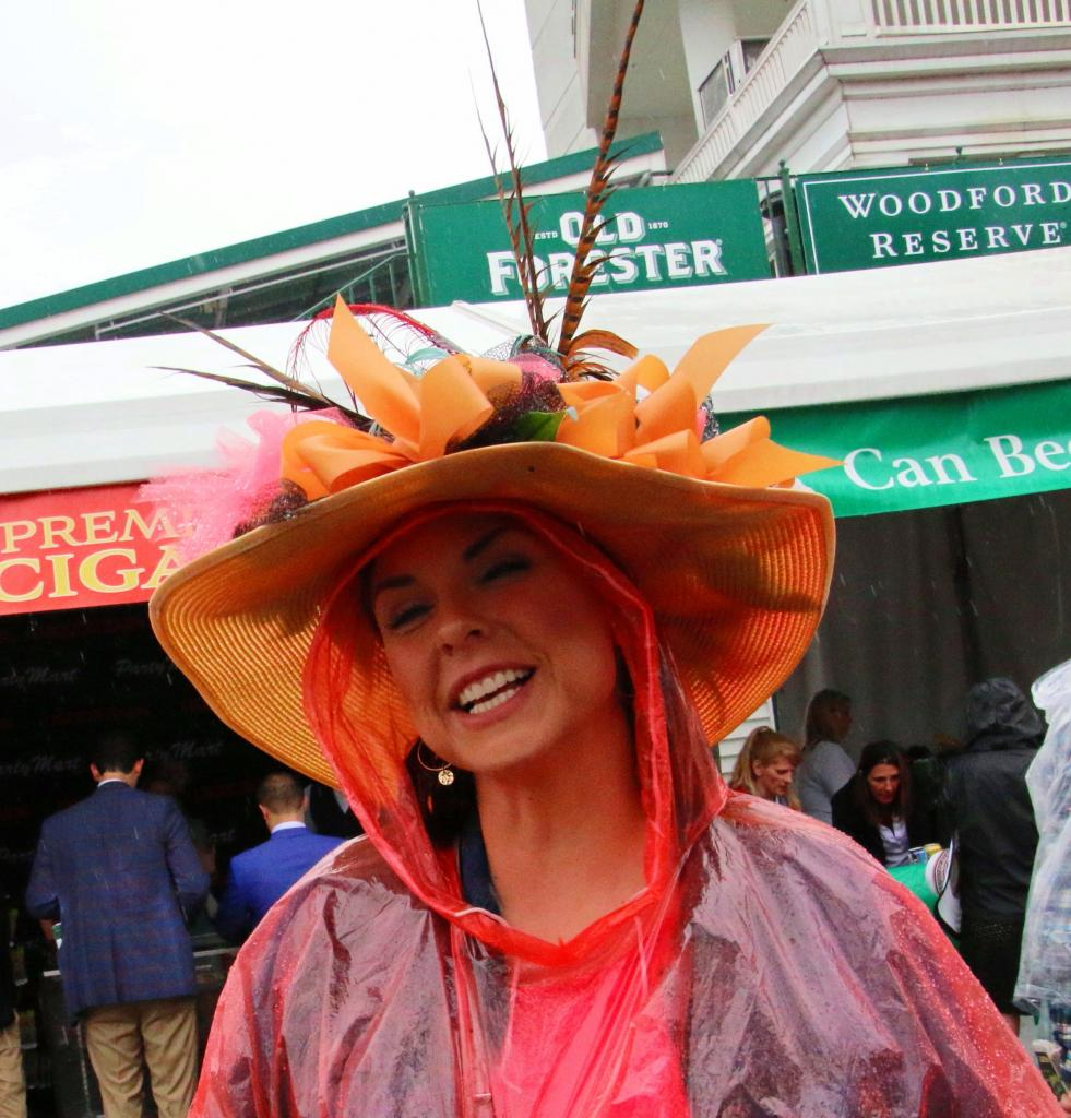 When in doubt wear the Derby hat over the top of the poncho hood. (Julie June Stewart photo)
