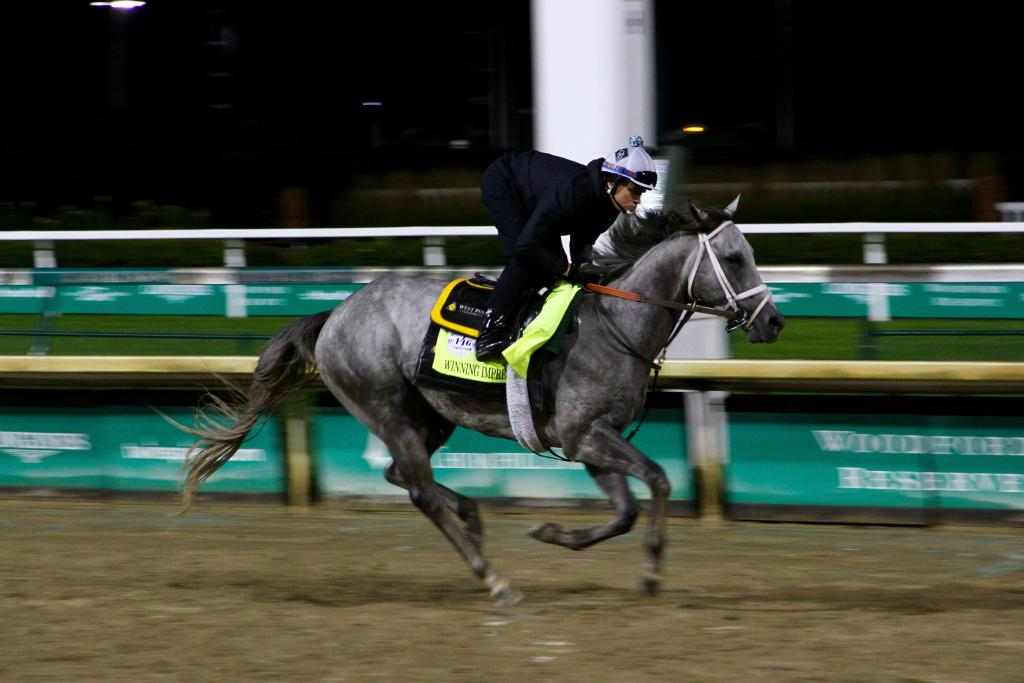 Winning Impression, owned in part by Derby-winning partnership West Point Thoroughbreds (Annise Montplaisir/America's Best Racing)