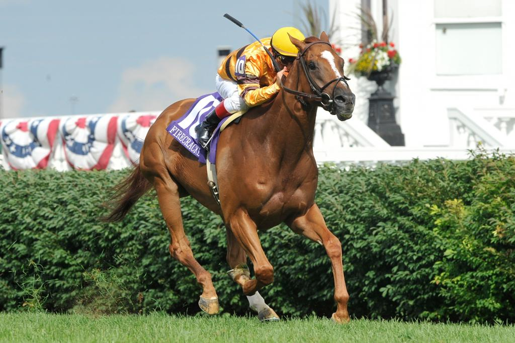 Wise Dan wins the 2011 Firecracker Handicap at Churchill Downs. (Eclipse Sportswire)