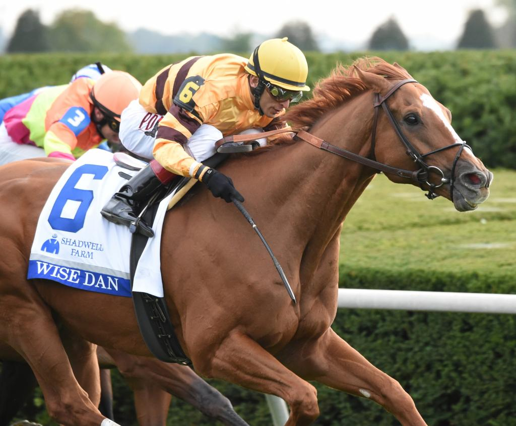 Wise Dan wins the 2014 Shadwell Turf Mile at Keeneland. (Eclipse Sportswire)