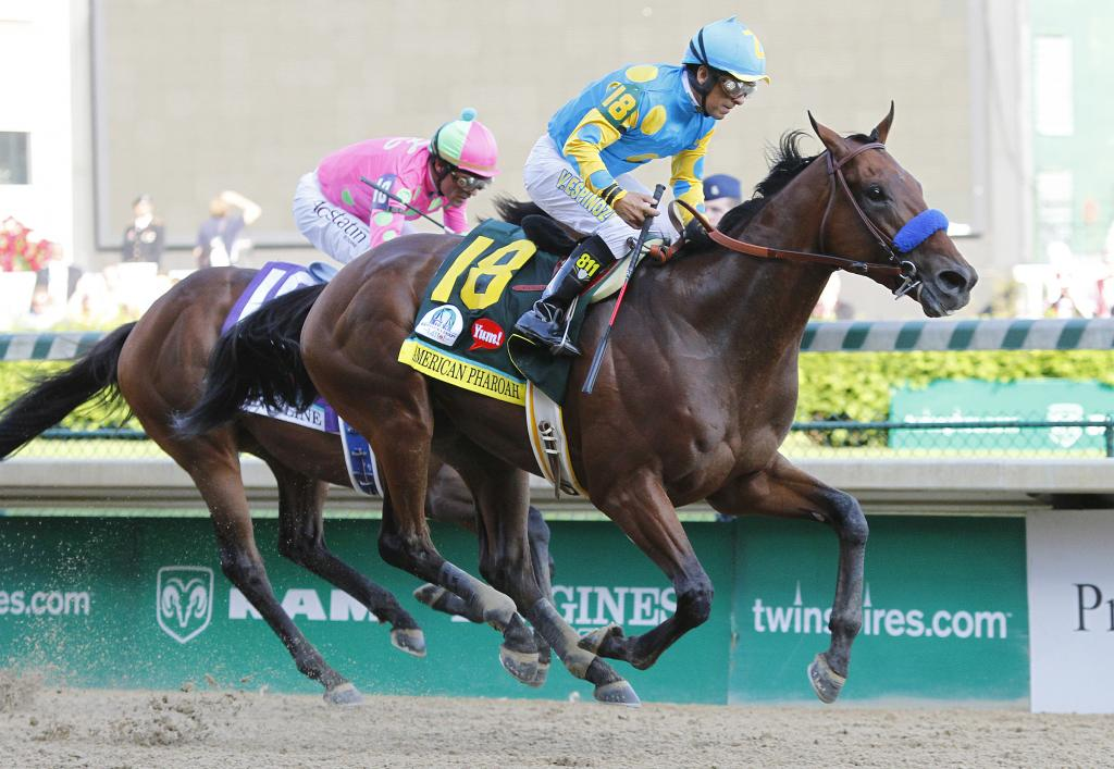 American Pharoah winning the 2015 Kentucky Derby. (Eclipse Sportswire)