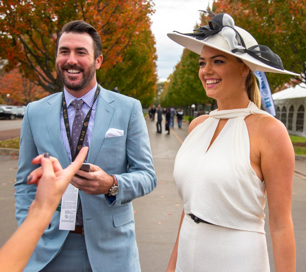 Justin Verlander and Kate Upton at the 2015 Breeders' Cup World Championships at Keeneland.