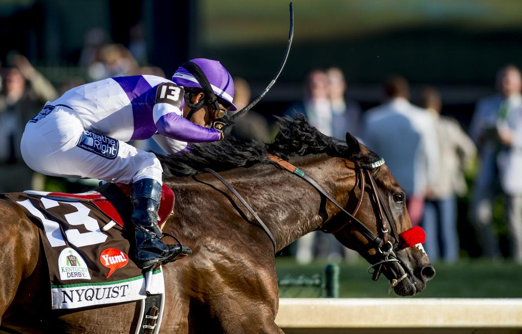 Unbeaten Champion Nyquist Game In Kentucky Derby Victory