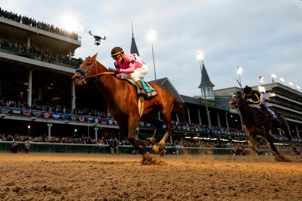 Game Winner became an early 2019 Kentucky Derby favorite with his win in the Juvenile. (Eclipse Sportswire)