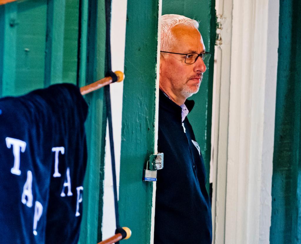 Todd Pletcher, trainer of Kentucky Derby winner Always Dreaming, at Pimlico. (Eclipse Sportswire)