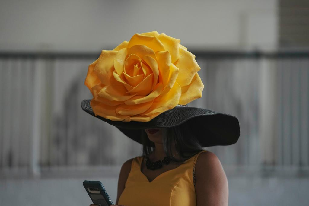 A look at some of the fashionable, fun, and unique hats on Kentucky Derby day. (Eclipse Sportswire)