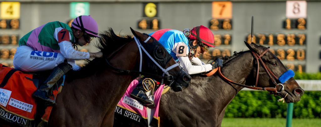 Medina Spirit holds off Mandaloun in the 2021 Kentucky Derby. (Eclipse Sportswire)