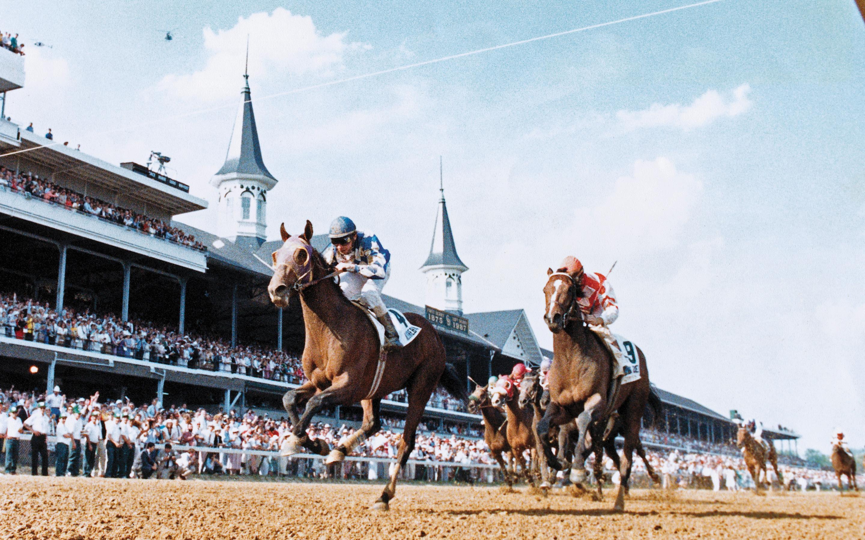 Alysheba wins the 1987 Kentucky Derby.