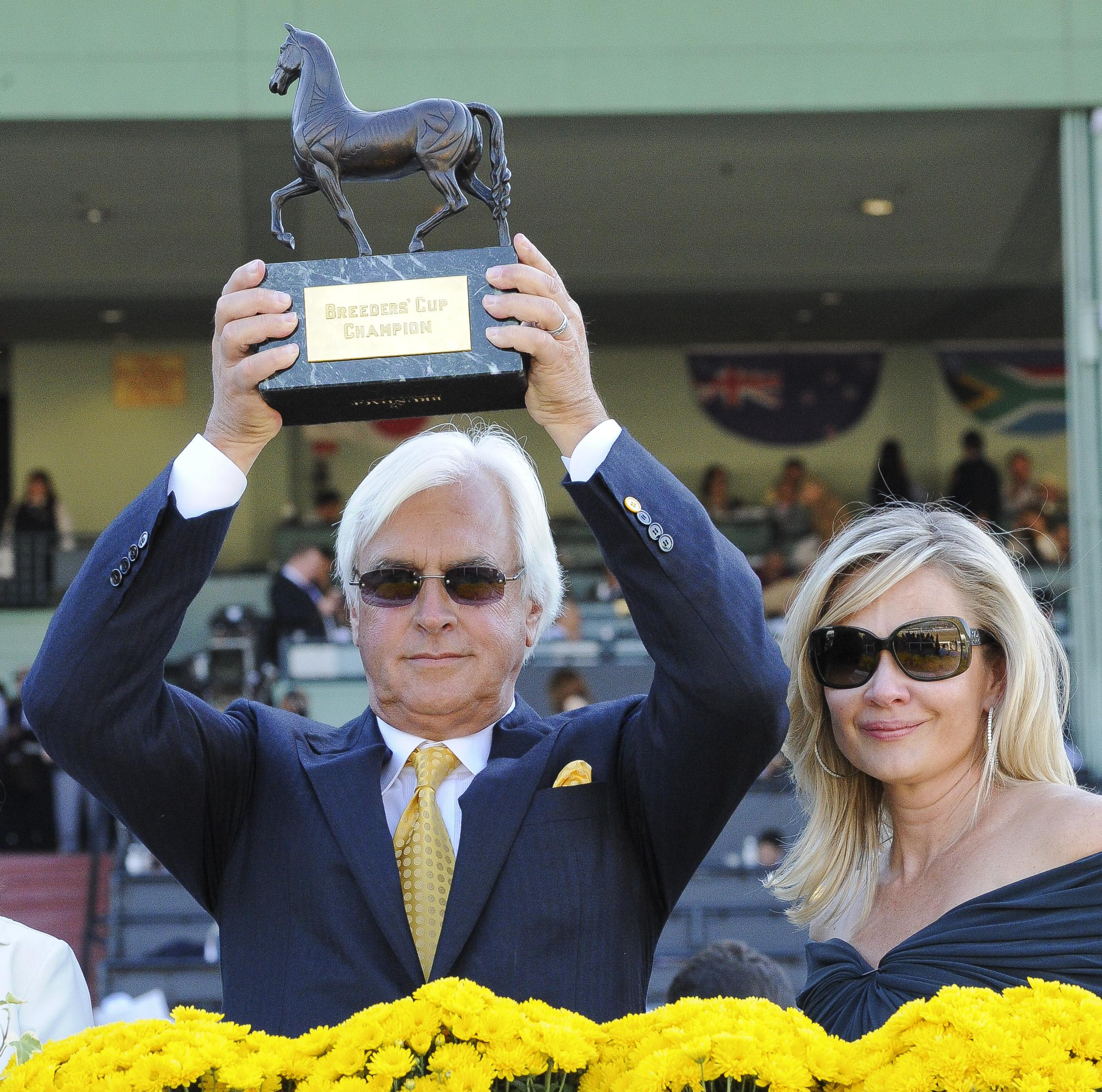 Bob Baffert and wife Jill after winning the 2013 Juvenile.