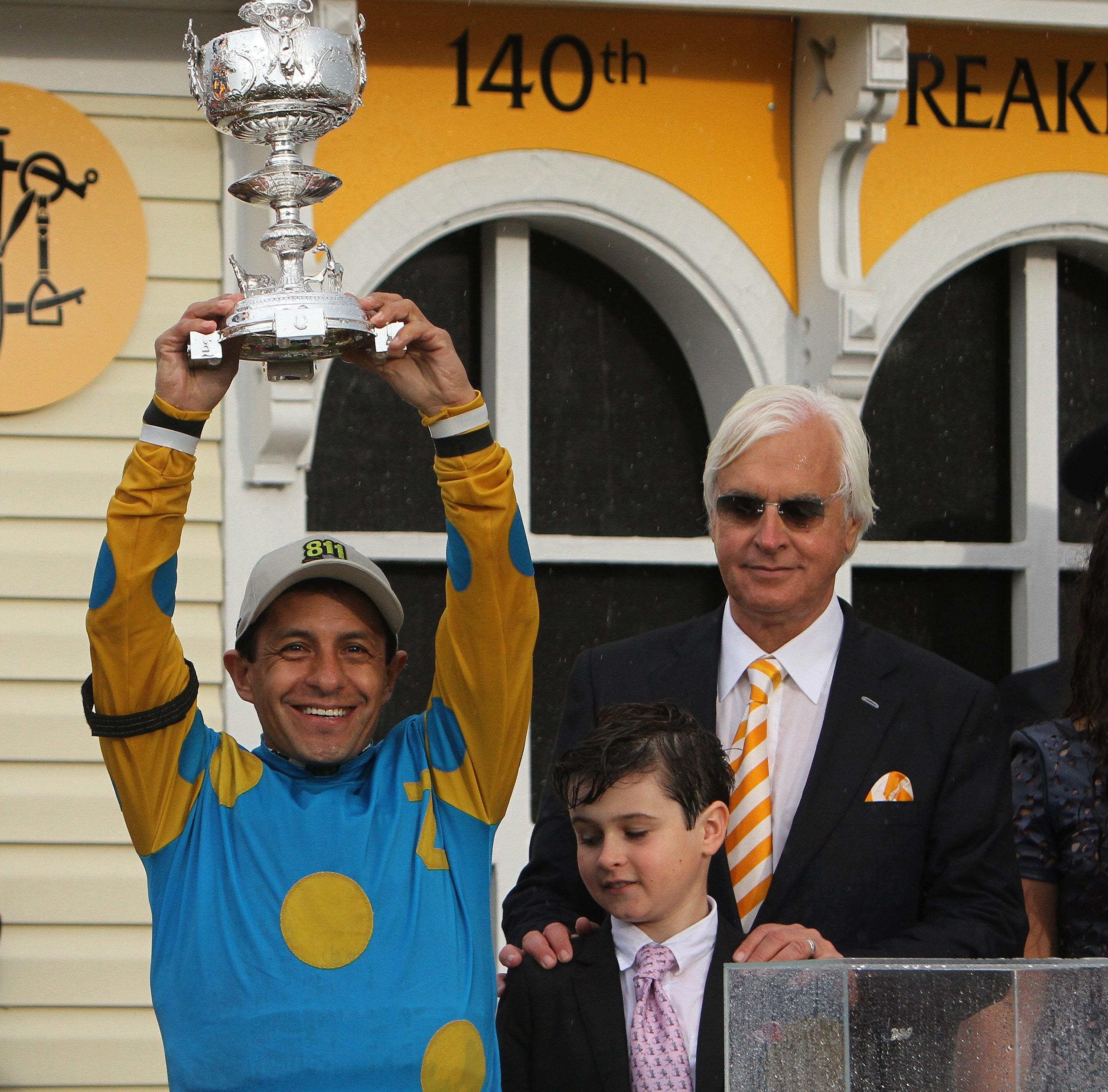 Bob Baffert, Bode Baffert and Victor Espinoza