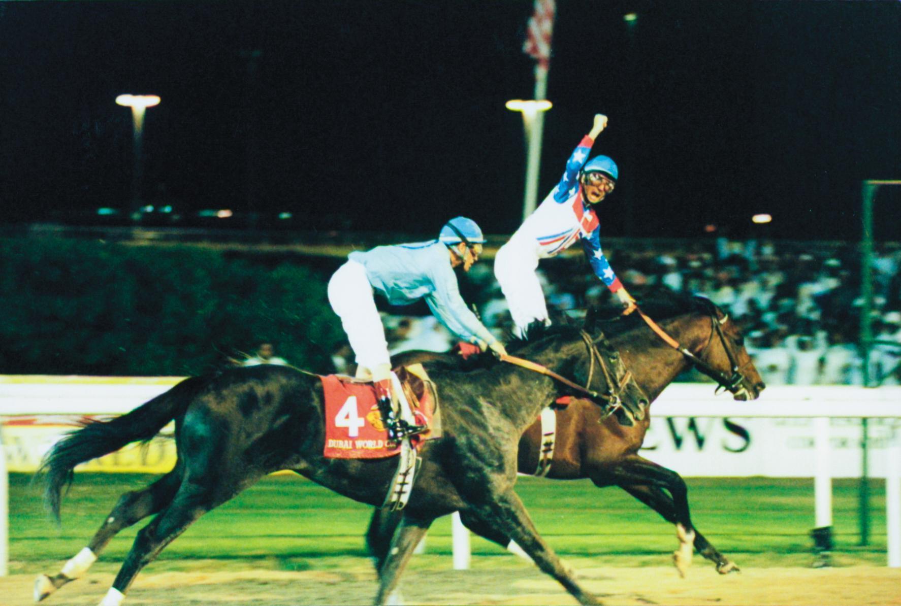 Bailey and Cigar win the Dubai World Cup.